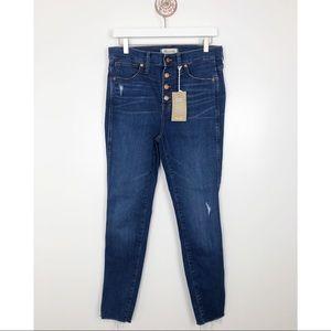 NEW Madewell 10″ High-Rise Skinny Jeans Raw Hem